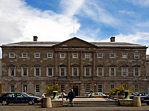 Politics of the Republic of Ireland - Leinster House in Dublin, seat of the houses of the Oireachtas