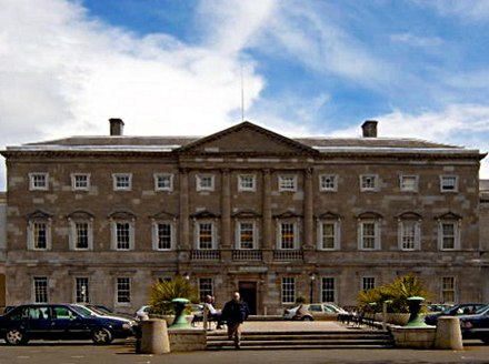 Leinster House on Kildare Street houses the Oireachtas Leinsterhouse.jpg