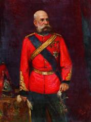 Kaiser Franz Joseph I. in englischer Regimentsuniform