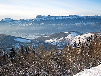 Les Adrets - Les Adrets and the Chartreuse, seen from Prapoutel