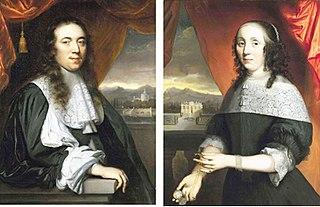 Wedding portraits of Adriaen Braets and his wife Maria van der Graeff.