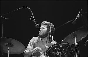 Levon Helm - Helm with the Band at the Santa Cruz Civic Auditorium, 1976 Photo: David Gans