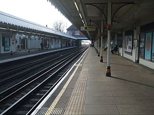 Leyton tube station - Image: Leyton tube west