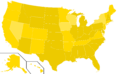 Libertarian Party presidential election results, 1996, ordinal (United States of America).png
