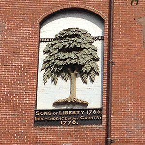 Liberty Tree - Marker at the site where the Liberty Tree once stood
