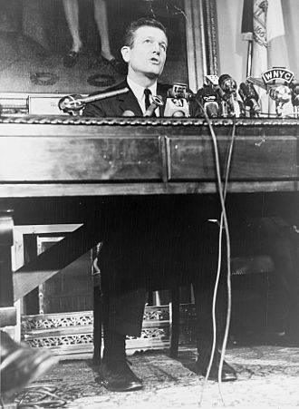 John Lindsay - Lindsay speaking at City Hall in January 1966