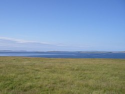 Linga Holm, looking over Eday, Spurness and Linga Sounds - geograph.org.uk - 253370.jpg