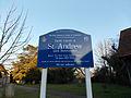 Little Berkhamsted, Hertfordshire, St Andrew's Church 21 - Sign.jpg