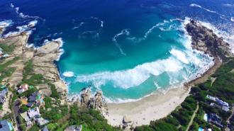 Llandudno, Cape Town - An aerial view of Llandudno beach.