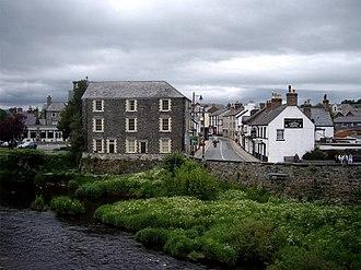 Llanrwst - Image: Llanrwst from bridge over Afon Conwy geograph.org.uk 456111
