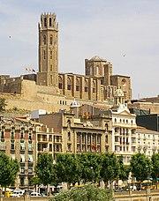 Lleida - La Seu Vella (des de Cappont)detalle