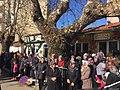 Locals in Komotini await the arrival of -Turkey's President Erdogan, December 7 2017.jpg