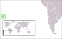 Location of Easter Island