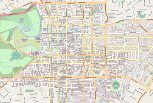 Map of Christchurch Central City