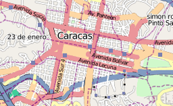 Caracas drone attack is located in Central Caracas
