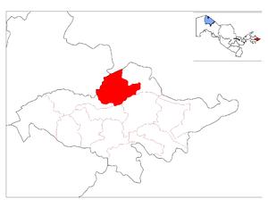 Izboskan District - Image: Location of Izboskan District in Andijon Province