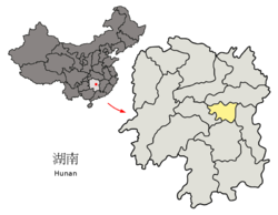 location of Xiangtan City jurisdiction in Hunan