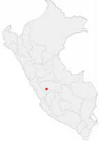 Location of the city of Jauja in Peru.png