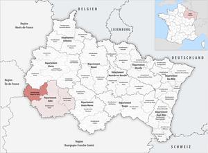 Arrondissement of Nogent-sur-Seine - Image: Locator map of Arrondissement Nogent sur Seine 2017