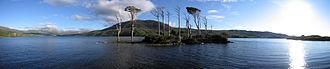 Loch Assynt - Image: Loch Assynt Panorama
