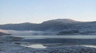 Beinn Loinne mountain in Highland, Scotland, UK