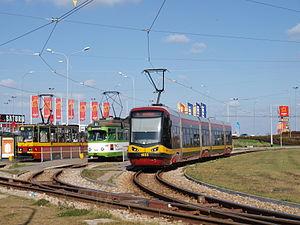 Lodz chocianowice tram loop