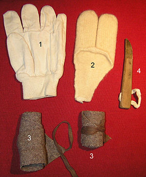 Gibbing - Utensils used in 1966 in the process of gibbing on a lugger
