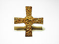 Lombard grave goods from Cividale, Italy - gold foil cross.jpg
