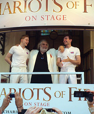 Vangelis - With the stars of the stage adaptation of Chariots of Fire at the Gielgud Theatre, July 2012