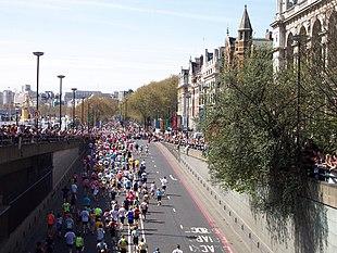 La maratona di Londra, edizione 2005.