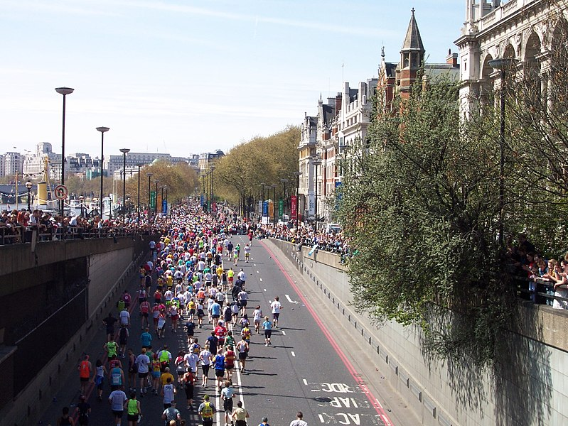 do: run in the London Marathon