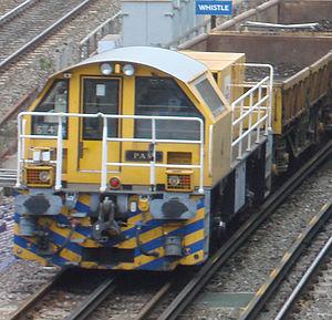 London Underground diesel locomotives - London Underground Schöma locomotive No.4 Pam.