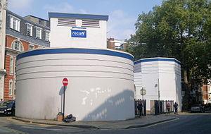 Chenies Street - Chenies Street entrance to the Goodge Street tube station deep-level shelter