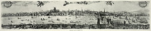 Panorama of London - Image: London panorama, 1616b