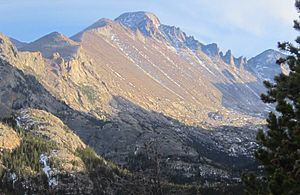 Mont Vista general del Longs Peak