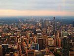 Looking North from CN Tower, Toronto, Ontario (21828389902).jpg