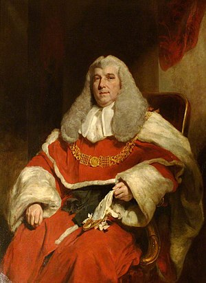 Charles Abbott, 1st Baron Tenterden - Image: Lord Tenterden LCJ by William Owen