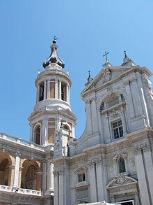 Il campanile del Santuario di Loreto