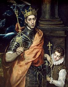 Saint Louis imaginé par Le Greco (XVIesiècle)
