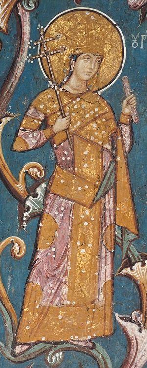 Stefan Uroš V - Young Uroš V, from Monastery of Visoki Dečani