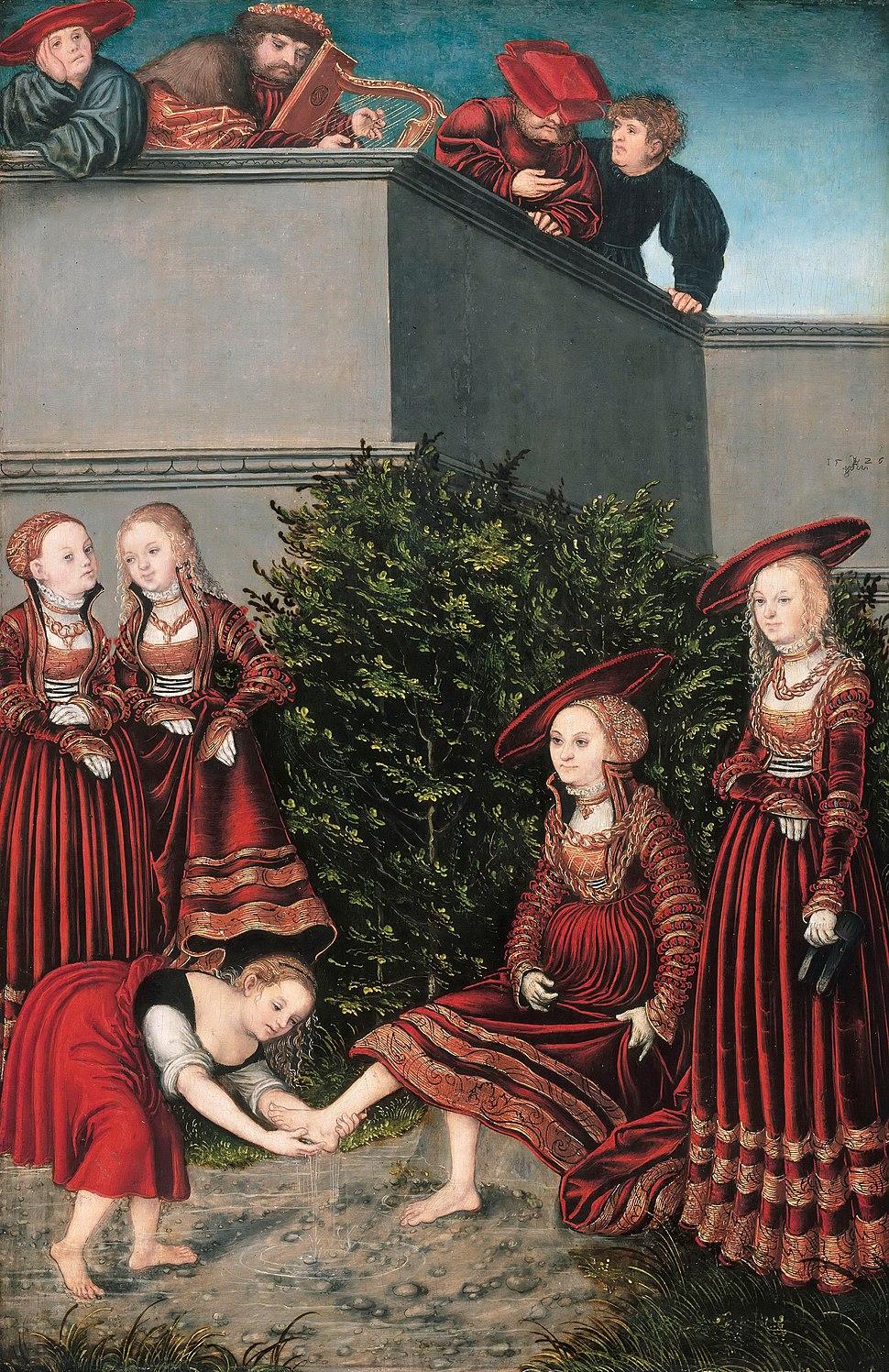 Lucas Cranach d. Ä. - David and Bathsheba - WGA05718