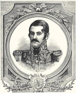Luis Brión - Portrait of Luis Brión, in Papel Periódico Ilustrado (1885).
