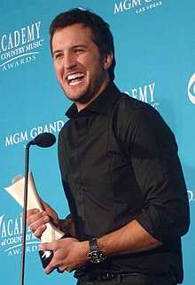Luke Bryan American country music singer