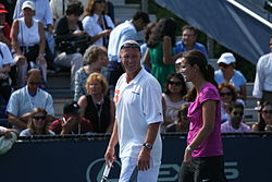 Luke Jensen and Mary Joe Fernandez 2009 US Open 01.jpg