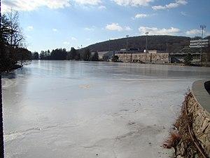 Lusk Reservoir - Image: Lusk Reservoir Frozen