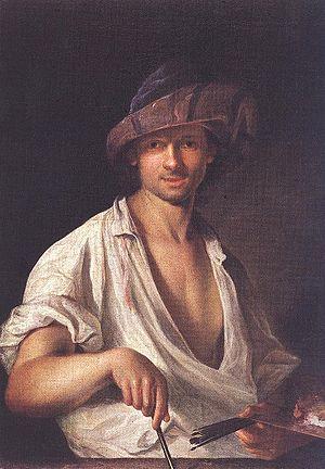 Ádám Mányoki - Self-portrait (1711)
