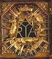 Mária-monogram a szegedi Havas Boldogasszony-templomban.jpg