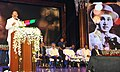 M. Venkaiah Naidu addressing the gathering after presenting the Akkineni Nageswara Rao National Film Award, in Hyderabad on September 17. 2017. The Chief Minister of Telangana, Shri Chandrashekar Rao, the Film Director.jpg