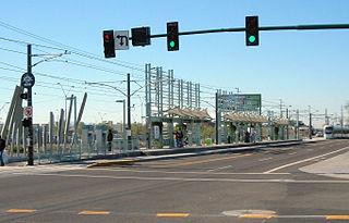 38th Street/Washington station light rail station in Phoenix, Arizona