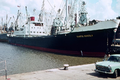 MS Santa Ursula general cargo vessel of the Hamburg-South American Steamship Company (HSDG), Liverpool - 1962.png